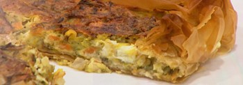 ZUCCHINI PIE WITH FETA CHEESE AND TRADITIONAL FILLO PASTRY